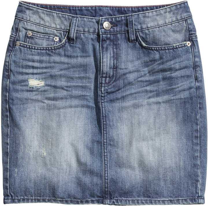 Minifalda denim.